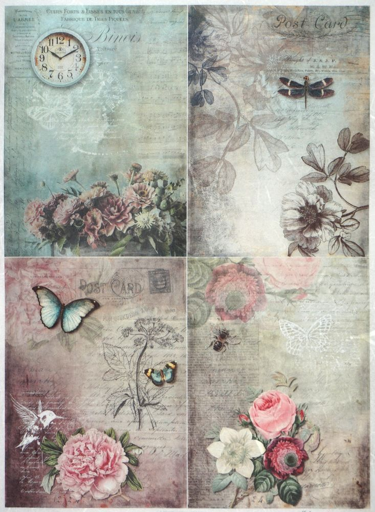 Details About Rice Paper For Decoupage Decopatch Scrapbook