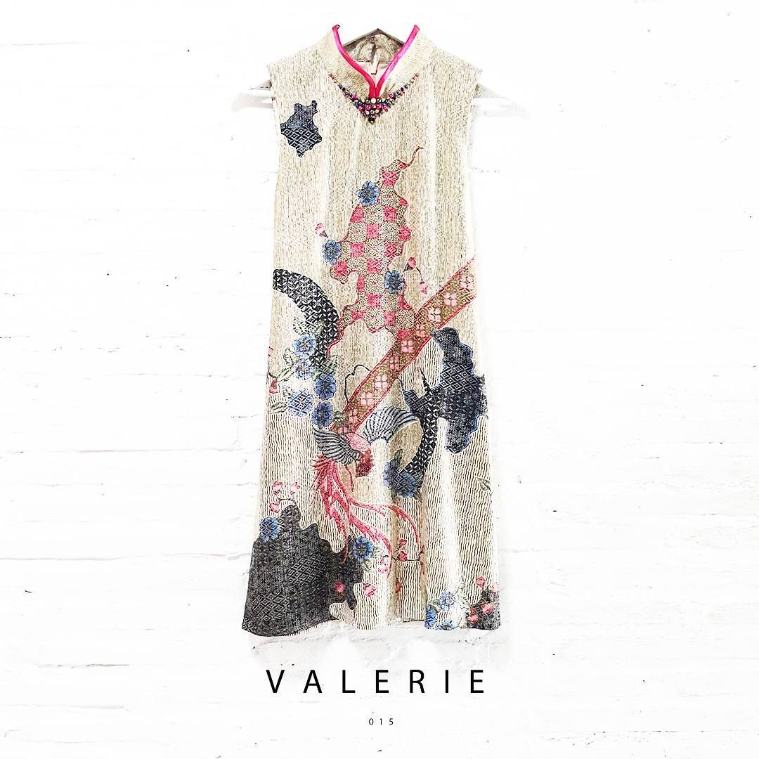 Valerie 015 Contemporary Batik Design with Pearl Embellishment-Qipao ...