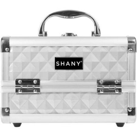 Shany Mini Makeup Train Case With Mirror Silver Walmart Com In 2020 Makeup Train Case Makeup Case Professional Makeup Case
