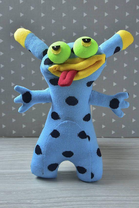 Plush monster doll Cuddly stuffed monster sock toy birthday