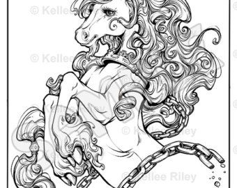 unicorn adult coloring pages - Unicorn Coloring Page For Adults
