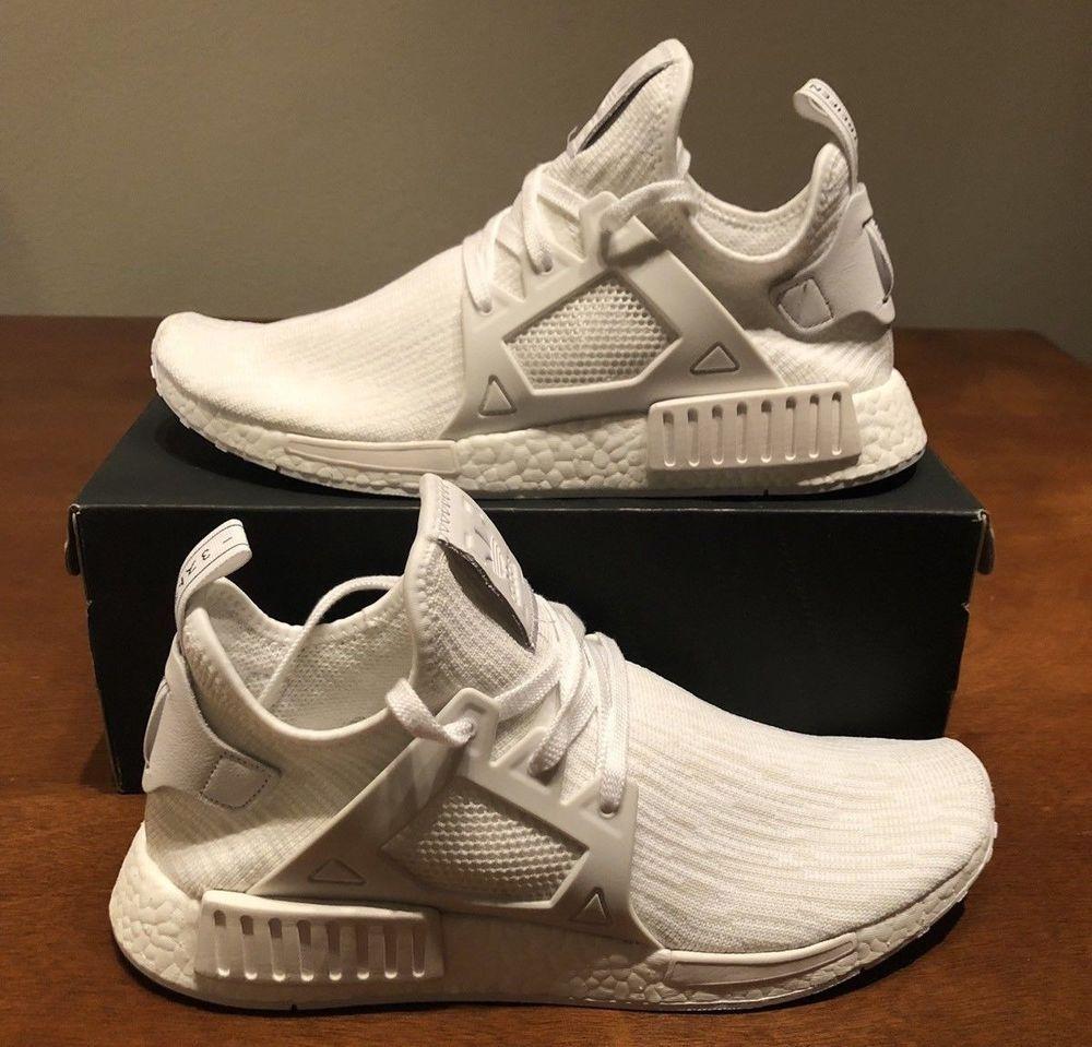 b4d064005283e BB1967 Adidas Originals NMD XR1 PK Primeknit Triple White Boost Limited New  Men  fashion  clothing  shoes  accessories  mensshoes  athleticshoes (ebay  link)