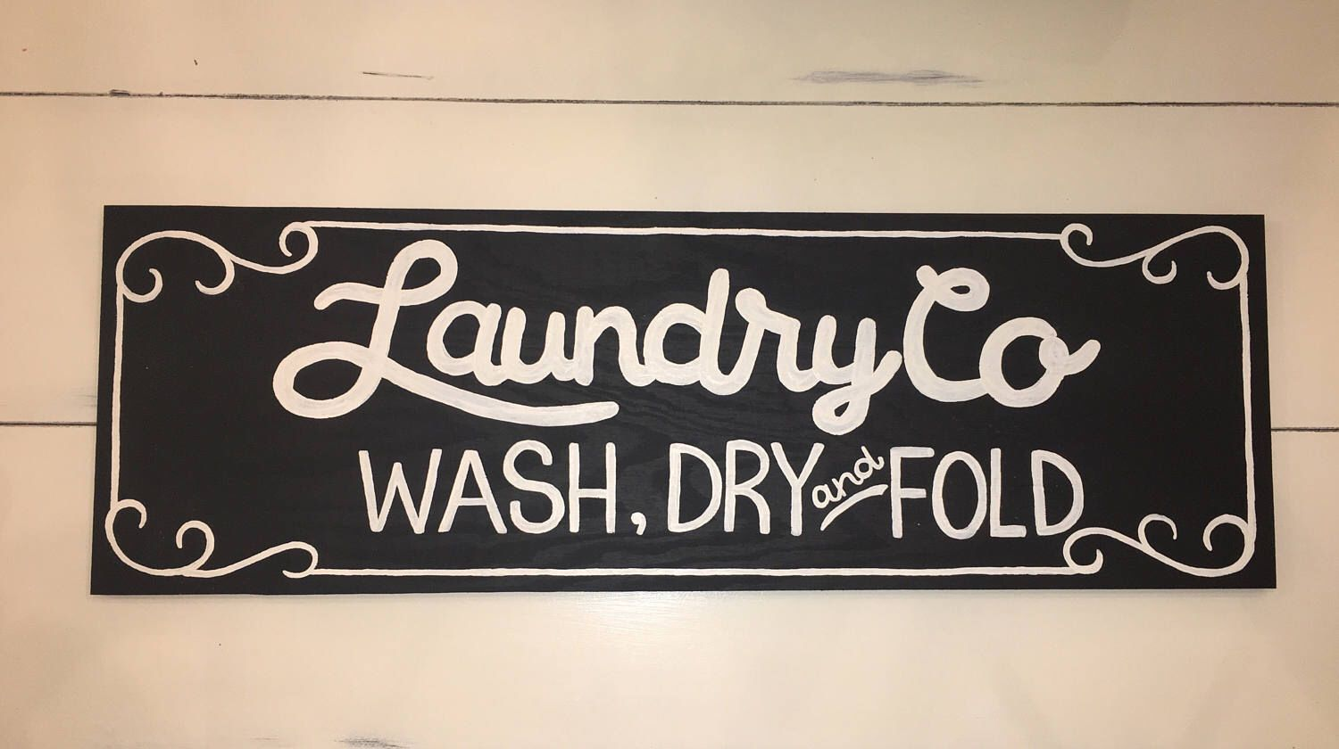 Laundry And Co Sign Small Laundry Cosign Wash Dry And Fold Fixer Upper Wood Sign