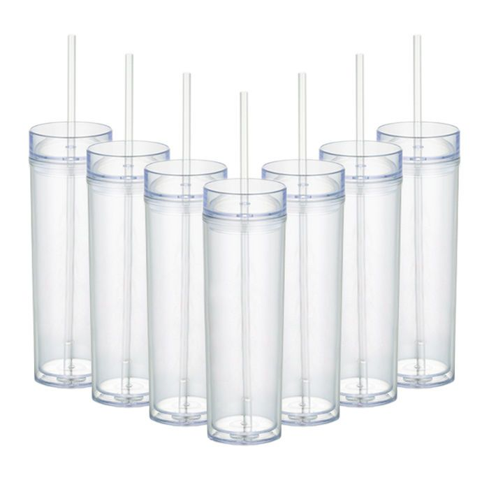 Details About Acrylic Insulated Tumblers Double Wall With