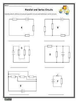 parallel and series circuits science worksheet worksheets rh pinterest com