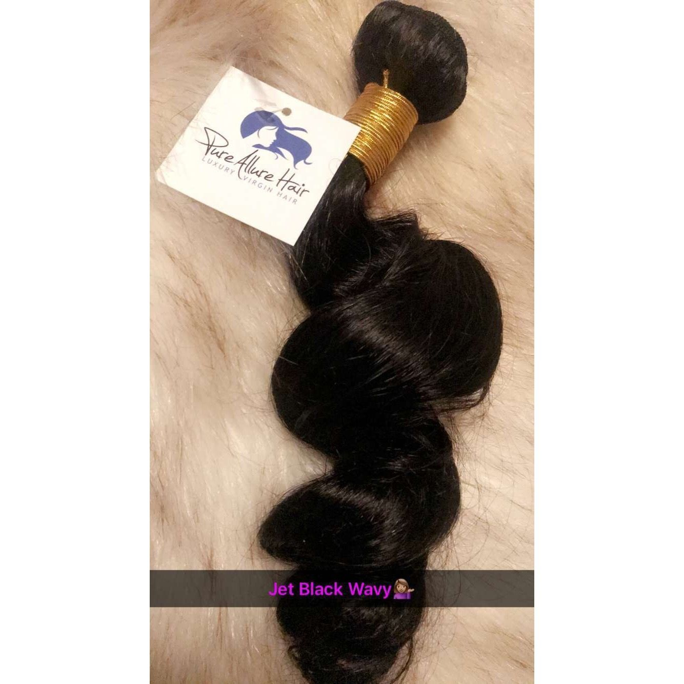 Jet Black Wavy Hair Our Jet Black Hair Extensions gives you an