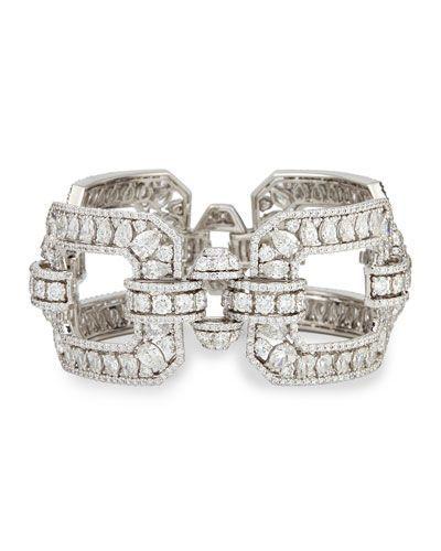 Best Diamond Bracelets Crivelli 18k White Gold Diamond Square