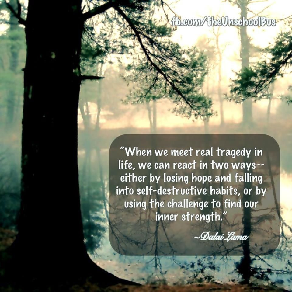 When we meet a real tragedy Inner strength quotes, Inner