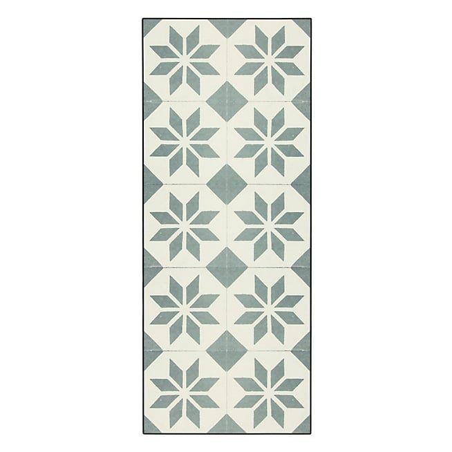 tapis vinyle cuisine vert de gris