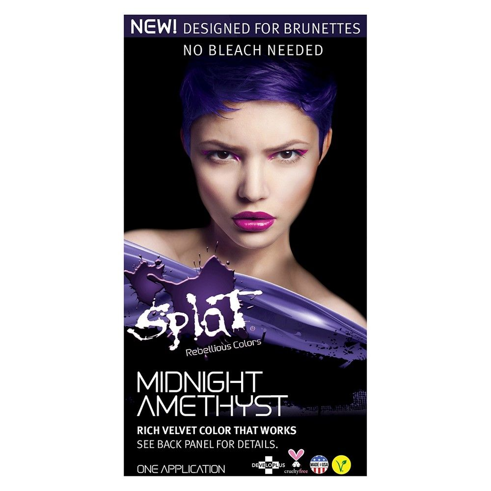 Splat Midnight Hair Color Amethyst 6 0oz Splat Midnight Hair