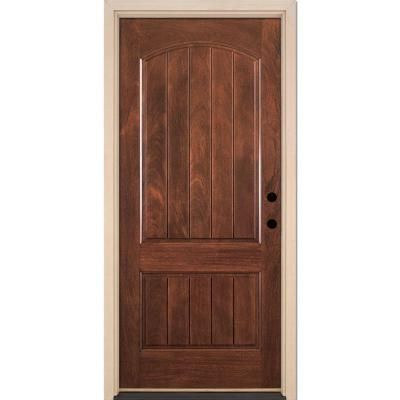 Front Door Texture feather river doors 2-panel plank chocolate mahogany fiberglass