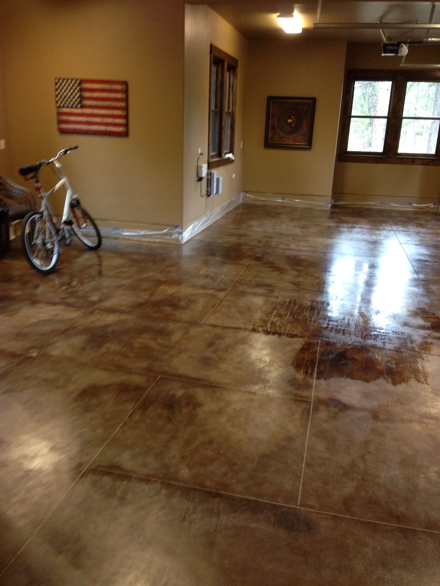 Garage - Stained Concrete Floor | Oregon House | Pinterest | Stained