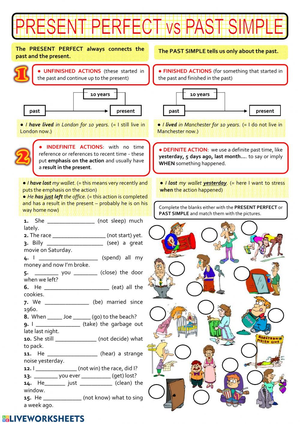 Present perfect simple or Simple past? Interactive