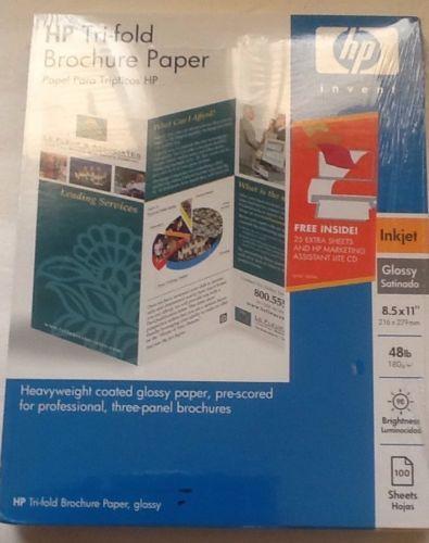 HP Tri-fold Brochure Paper Glossy 48lb Glossy Inkjet 85 x 11 New