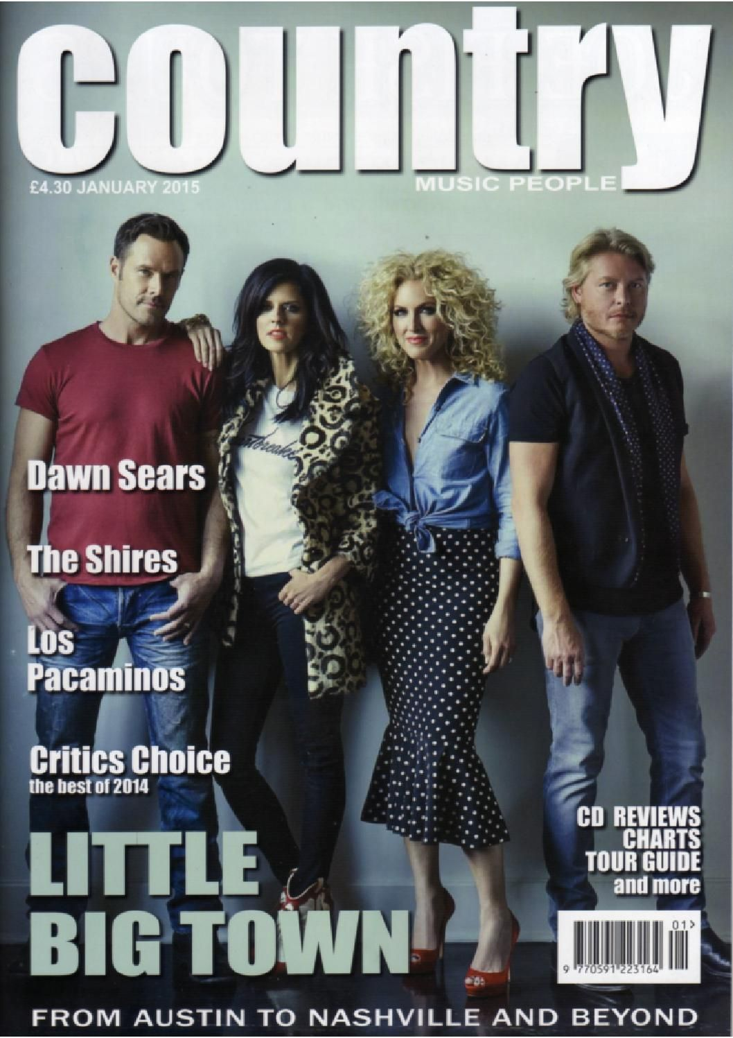 Country Music People January 2015 Magazines 6 Assortment