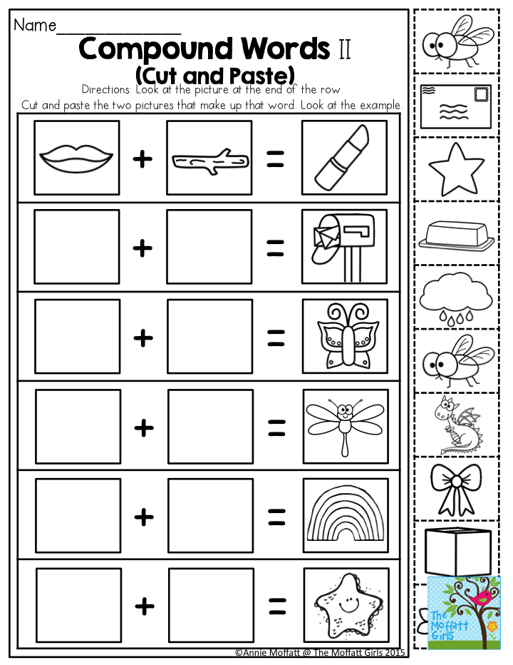 graphic regarding Printable Compound Word Games named Pin upon Kindergarten