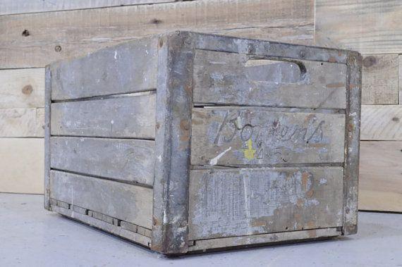 Vintage Wood Crate Borden's Crate Borden's
