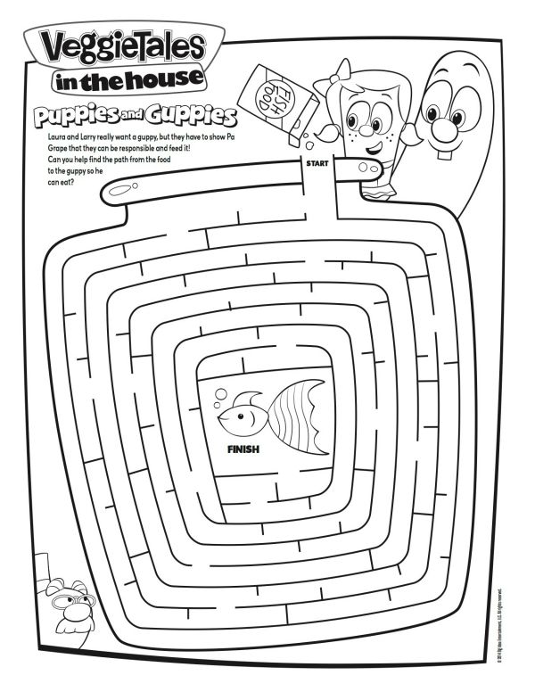 VeggieTales Puppies And Guppies Maze