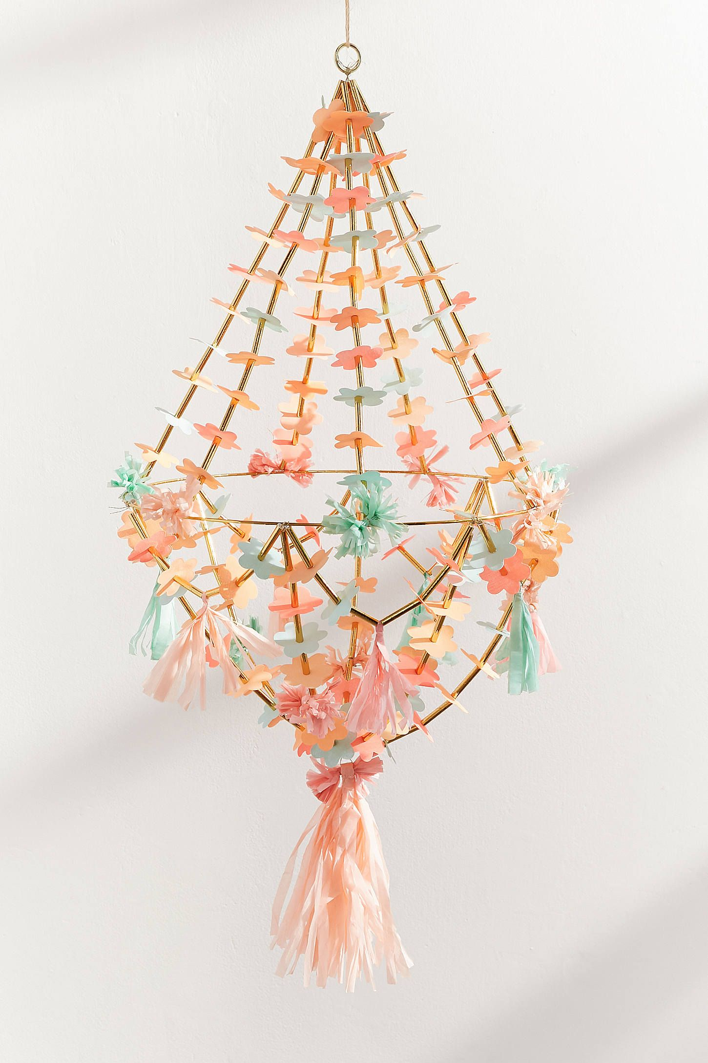 Meri Meri Paper Flower Chandelier Flower Room Decor Flower Chandelier Diy Chandelier