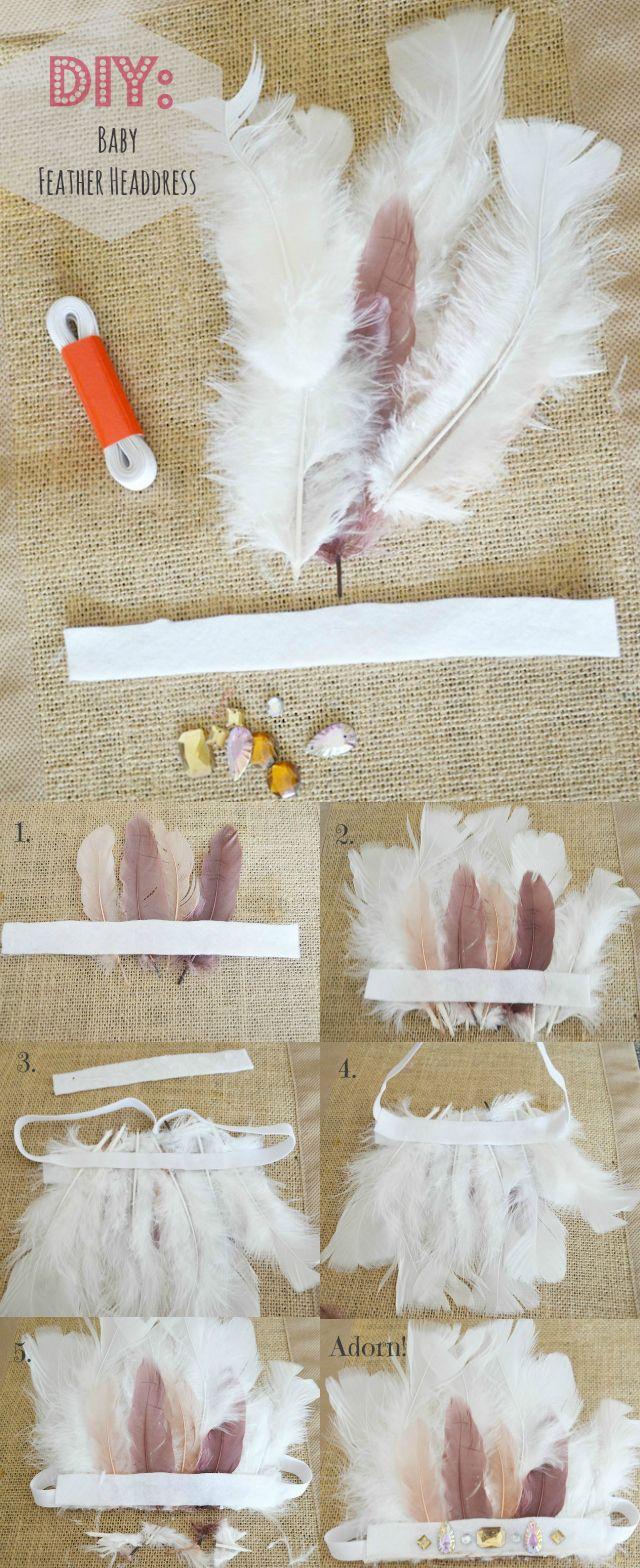 Diy Baby Feather Headdress My Blog Fawn Over Baby Pinterest