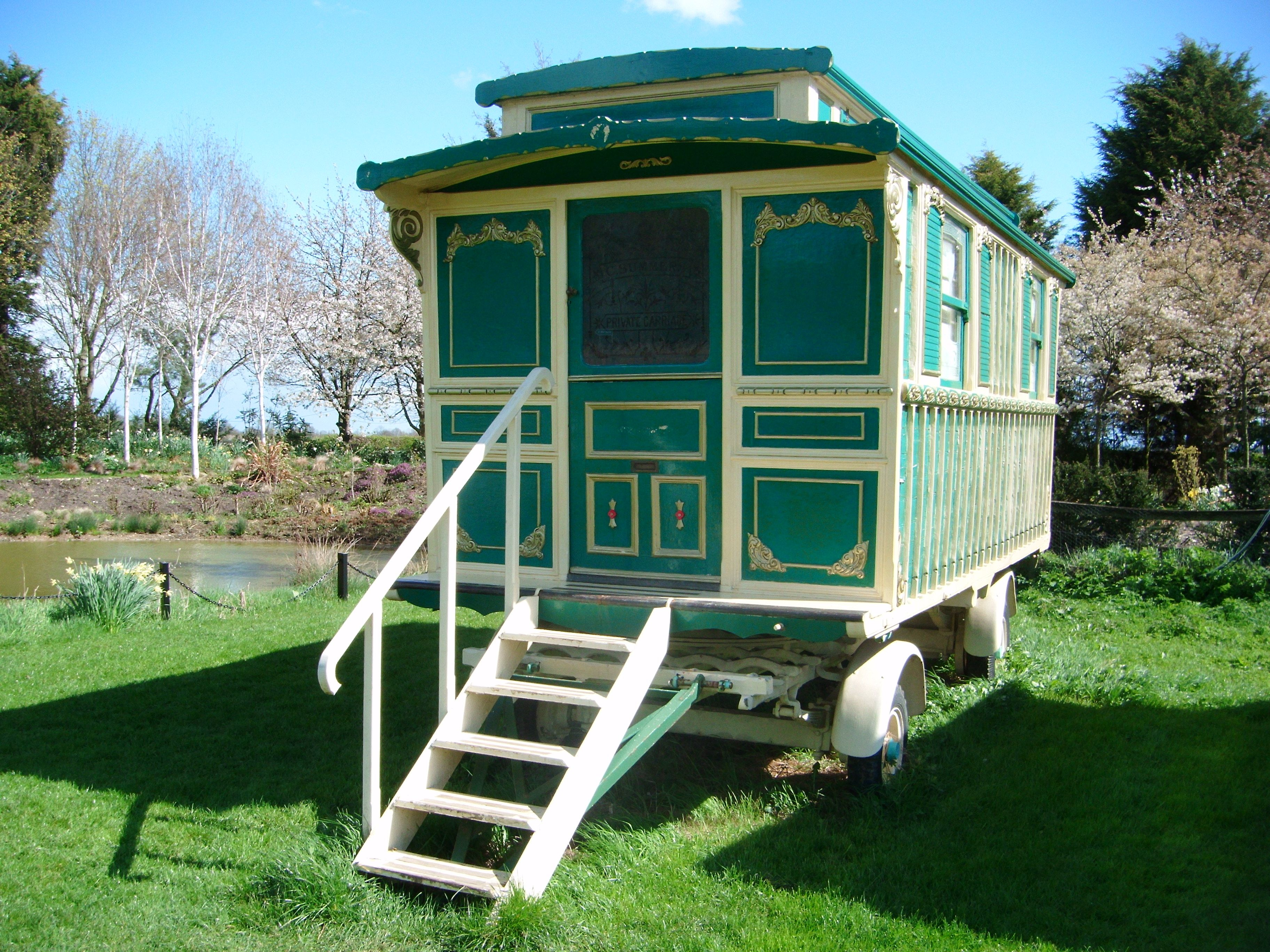 The showman s romany caravan at south farm cambridgeshire it s very cosy and extremely ornate