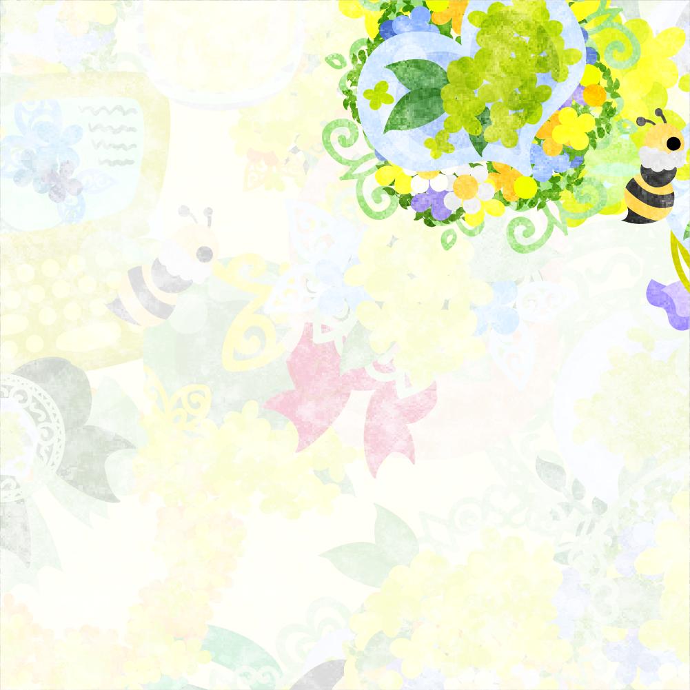 """フリーイラスト素材「黄色い花雑貨のフレーム」 free illustration """"the"""