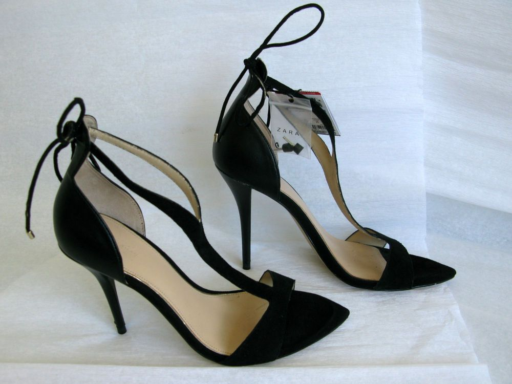 d6c9dd77346d ZARA BLACK LEATHER HIGH HEEL STRAPPY SANDALS SHOES BLOGGERS 100% Authentic   Zara  Strappy  zara  zarashoes  zaratrend  zaraheels  heels  wedgeplatform    ...