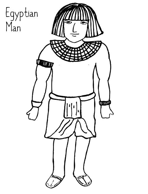 egyptian women coloring pages - photo#37