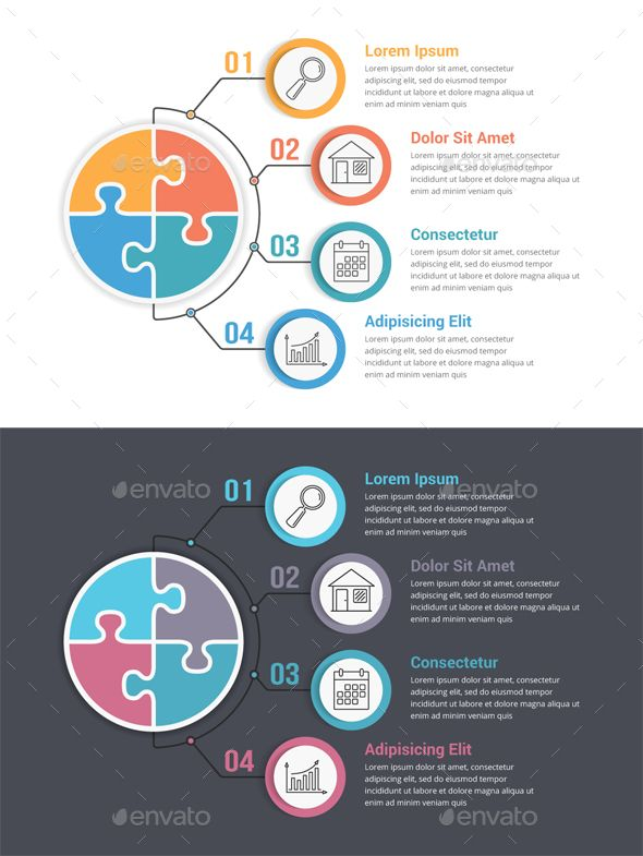 Puzzle Circle Infographic Template Psd Vector Eps Ai Illustrator