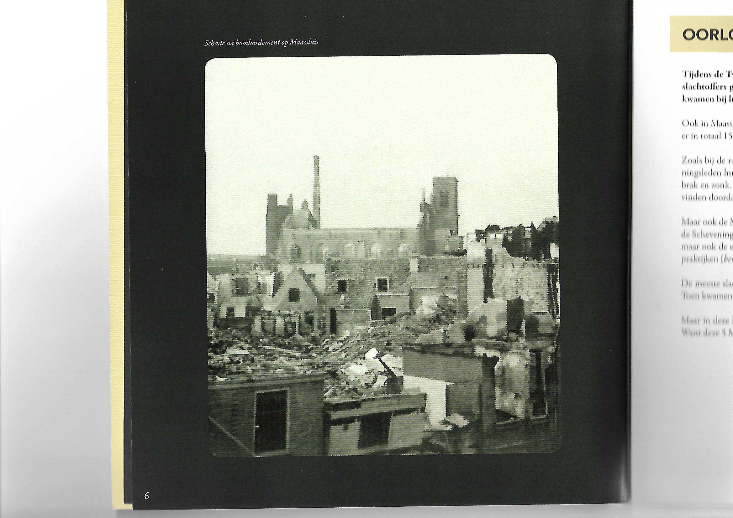 Maassluis na het bombardement van