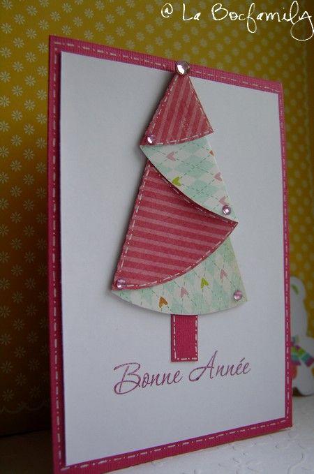Un tuto pour une jolie carte de v ux no l pinterest jolie carte de voeux jolies cartes et - Tuto carte de voeux ...