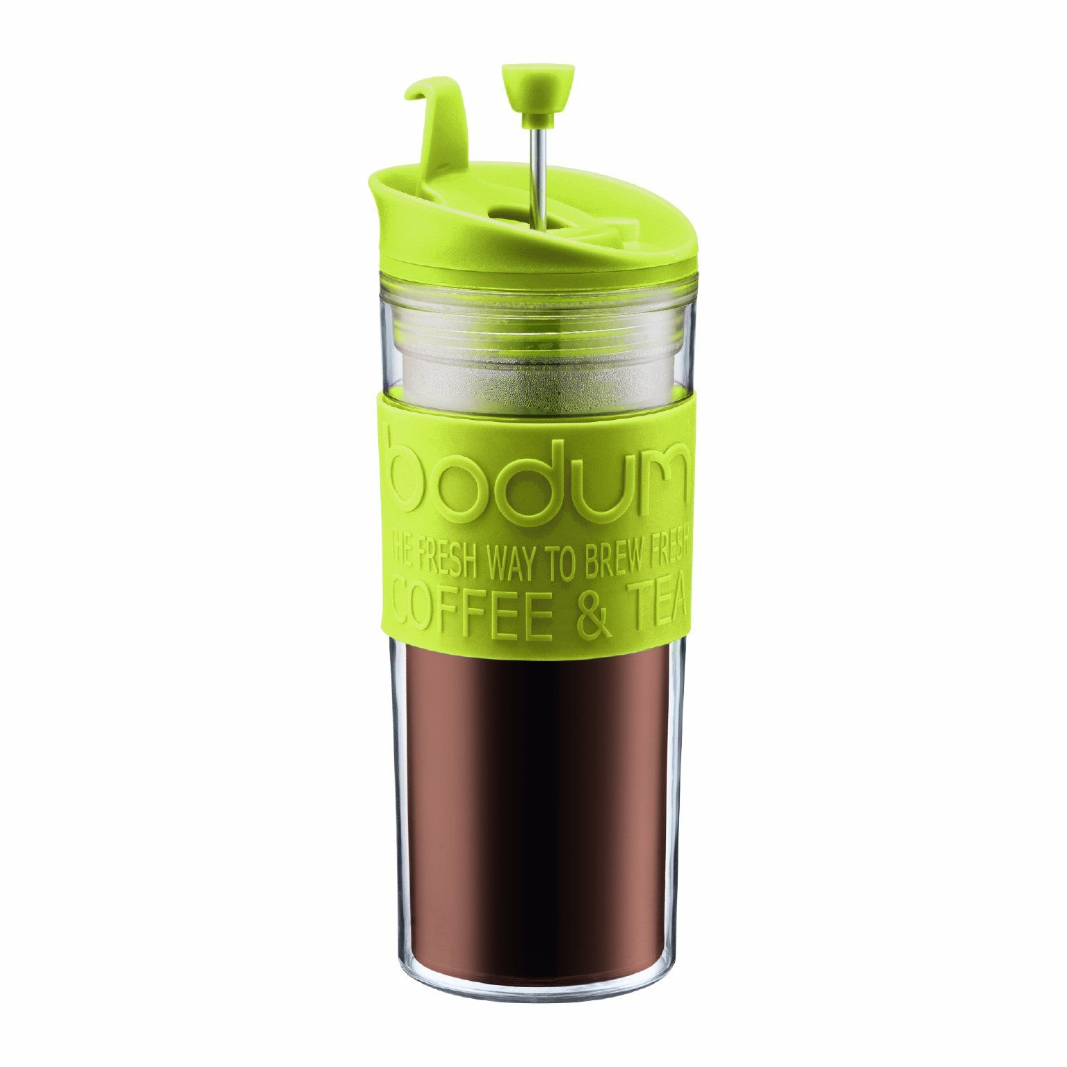0.45-Lit Bodum Insulated Stainless-Steel Travel French Press Coffee and Tea Mug