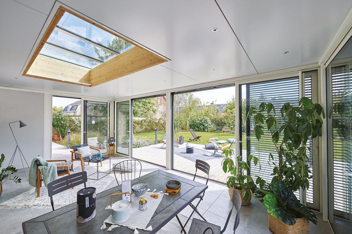 Plus Qu Une Veranda Une Piece De Vie Rideau Veranda Veranda Extension Maison