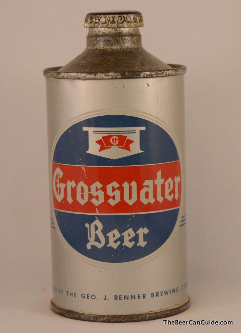 Grossvater Beer With Images Old Beer Cans Beer Brands Vintage Beer