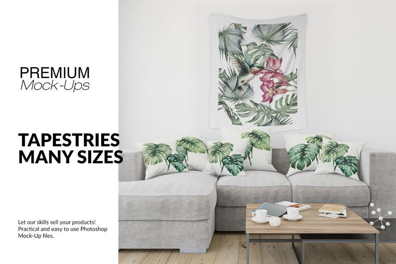 Tapestry In Living Room Mockups Tapestry Template Etsy Mockup Free Psd Mockup Tapestry #wall #tapestry #for #living #room