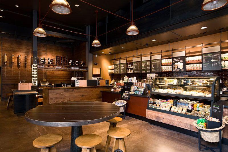 Starbucks Coffe Oregon A R E Association For Retail Environments Interior Cafe