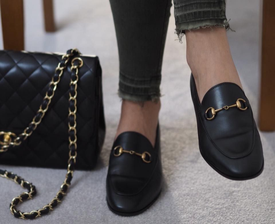 8b079777900 Gucci Jordaan loafers and classic chanel