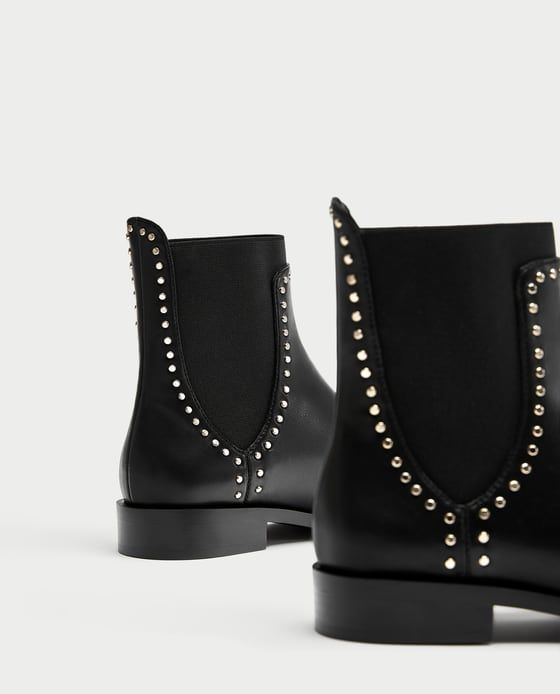9ca5329d2aa8 FLAT ANKLE BOOTS WITH STUDS DETAILS 3,990 RSD COLOR  Black 7162 201 ...