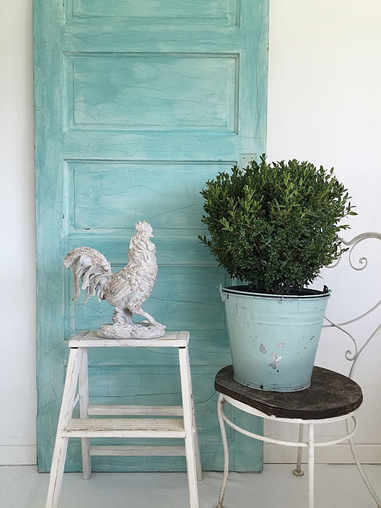 Farmhouse style rooster statue for sale at Hallstrom Home http ...