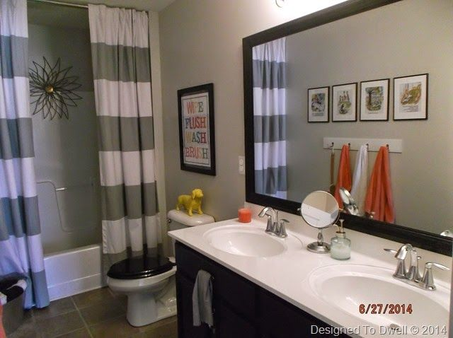 Boy Girl Shared Bathroom Neutral With Pops Of Color Designed To Beauteous Bathroom Designs For Kids