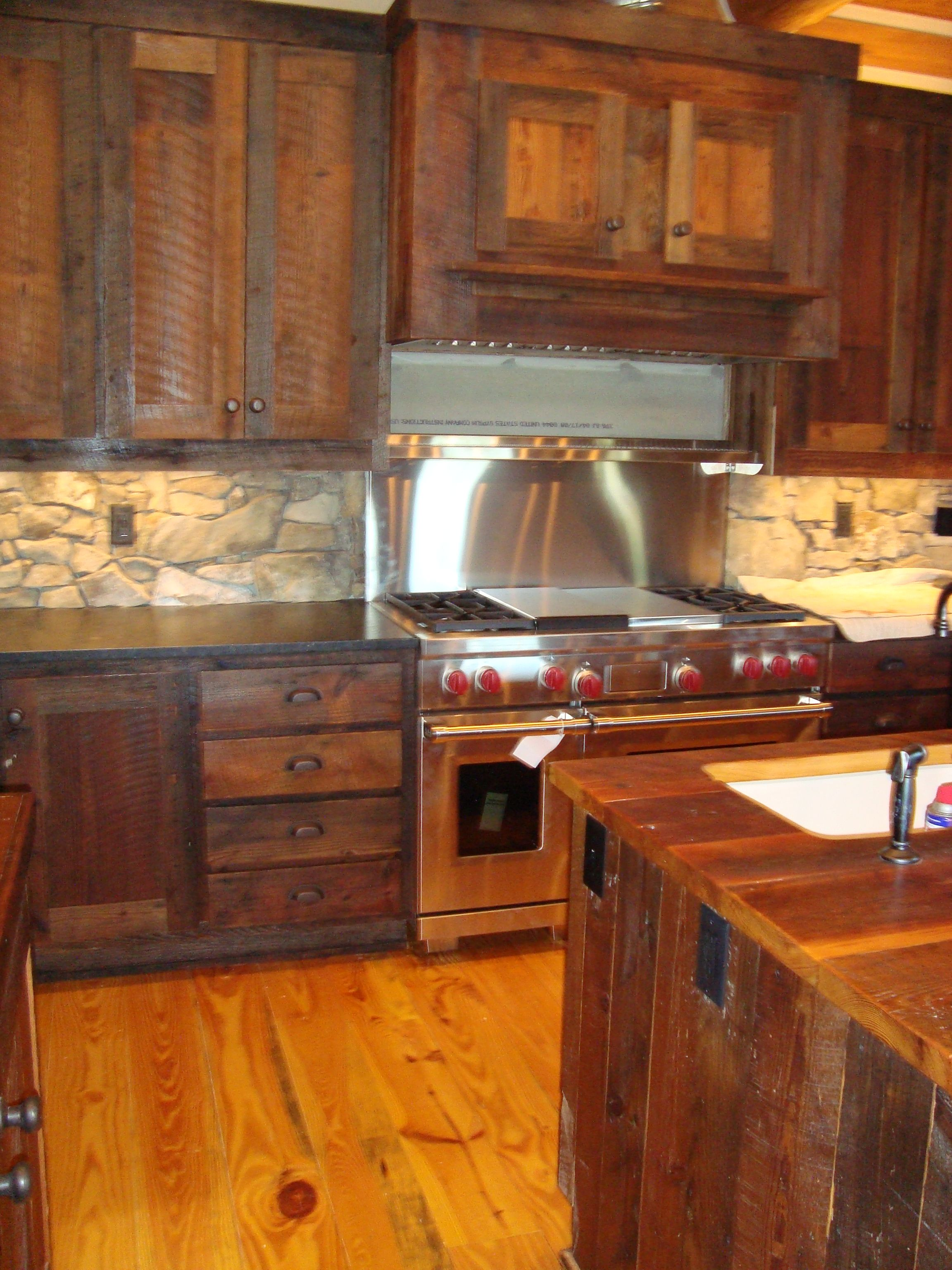 custom recovered barn wood cabinets New Casa Pinterest