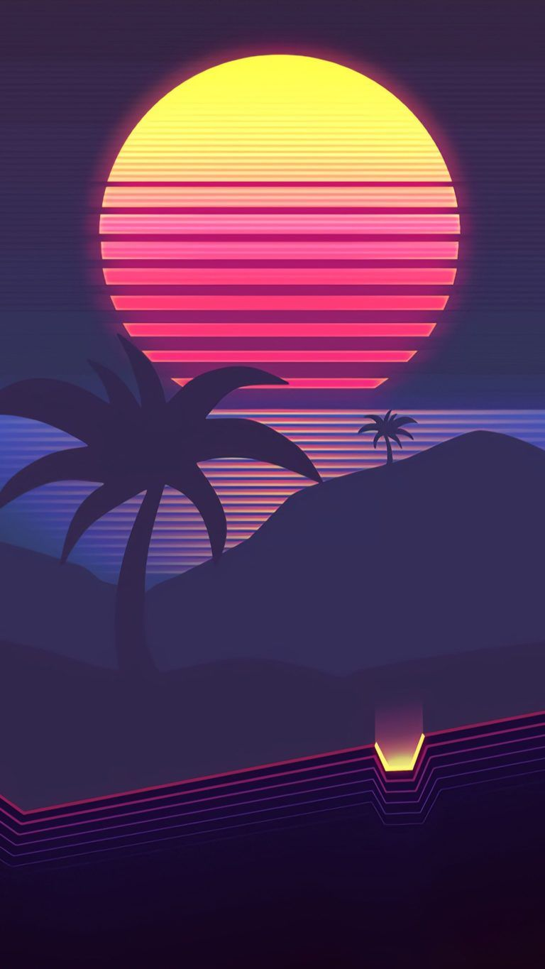 Iphone Wallpaper Purple Red Blue Light Pink Sky In 2020 Vaporwave Wallpaper Synthwave Retro Wallpaper