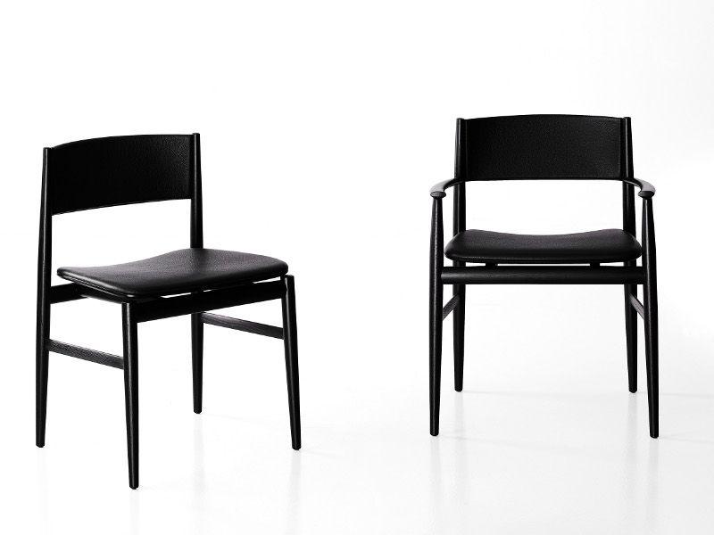 Sedia imbottita in frassino design NEVE by Porro | design ...