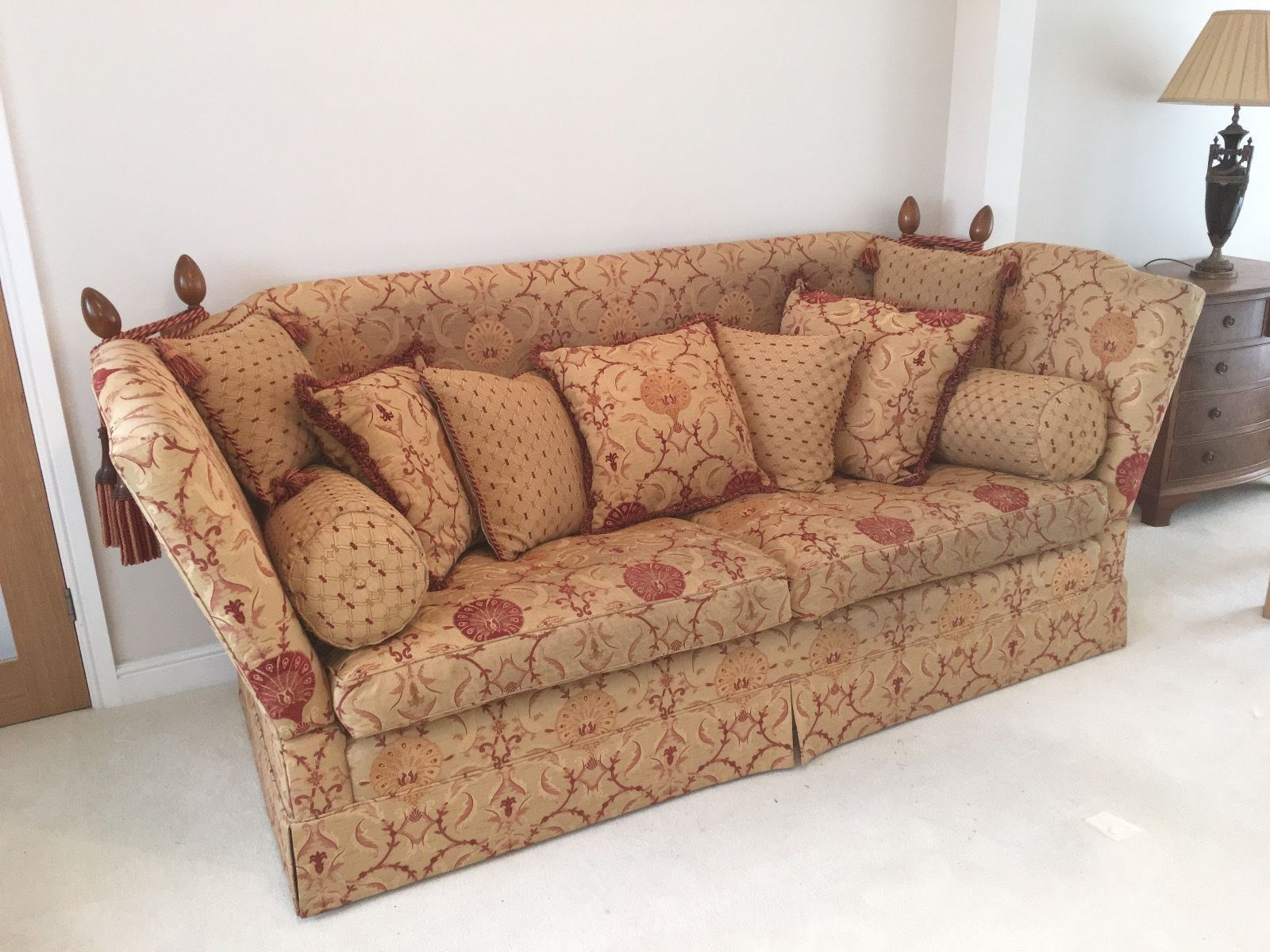Designer DAVID GUNDRY Manhattan Major 3 seater sofa knole drop arm