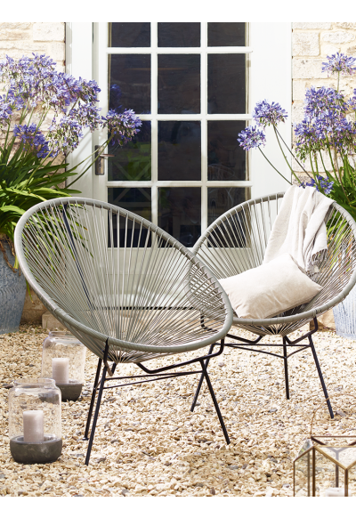 Grey String Chair   Outdoor Living Cox U0026 Cox Ulkokalusteet Tuoli Puutarha  £125 + 20 Pp