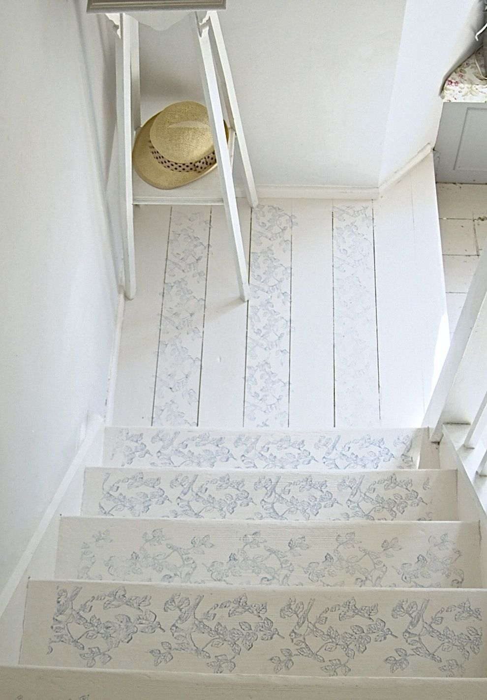 Laura Ashley Blog | ROLL WITH IT! AVIARY GARDEN STAIRCASE ART | http://blog.lauraashley.com