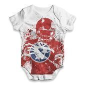 Tennessee American Football Player Baby Unisex ALLOVER PRINT Baby Grow Bodysuit