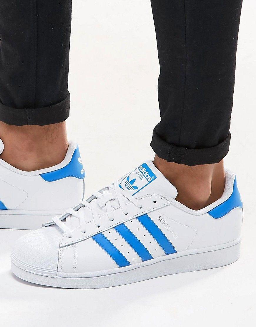 adidas Originals Superstar Trainers In White S75929