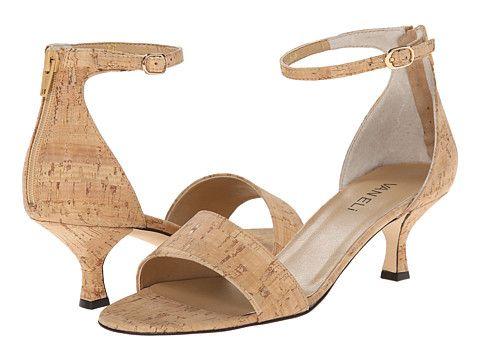 Womens Sandals Vaneli Marsie Natural Cork/Gold Buckle/Mtch Zipper