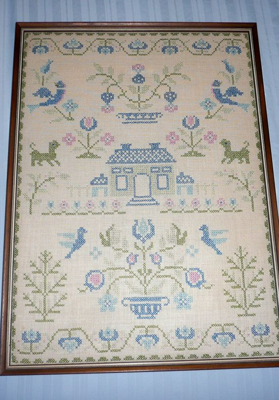 Seems Vintage cross stitch samplers